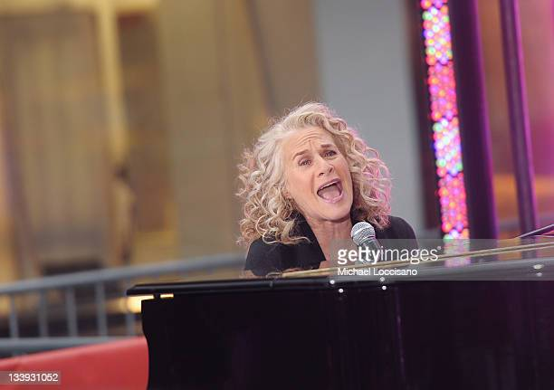 Musician Carole King performs on NBC's 'Today' in the TODAY Plaza on November 22 2011 in New York City