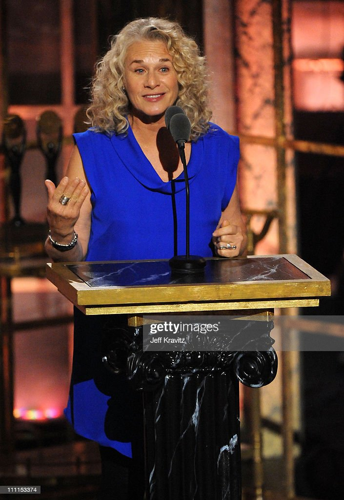 Musician Carole King speaks onstage at the 25th Annual Rock and Roll Hall of Fame Induction Ceremony at the Waldorf=Astoria on March 15, 2010 in New York City.
