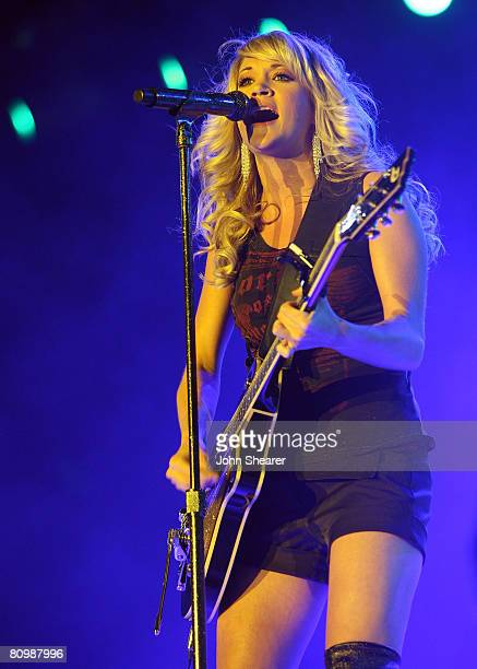 Musician Carrie Underwood performs during day 3 of Stagecoach California's Country Music Festival held at the Empire Polo Field on May 4 2008 in...