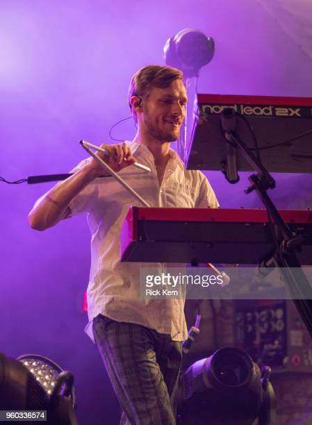 Musician Casey Harris of X Ambassadors performs in concert at Stubb's BarBQ on May 19 2018 in Austin Texas