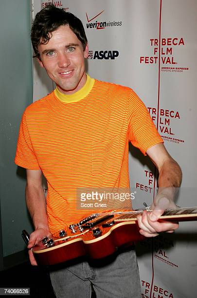 Musician Cass McCombs signs the guitar at the ASCAP Tribeca Music Lounge held at the Canal Room during the 2007 Tribeca Film Festival on May 3 2007...