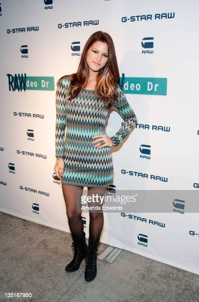 Musician Cassadee Pope arrives at the GStar Los Angeles Denim Store Opening at the GStar Rodeo Drive Store on December 6 2011 in Beverly Hills...