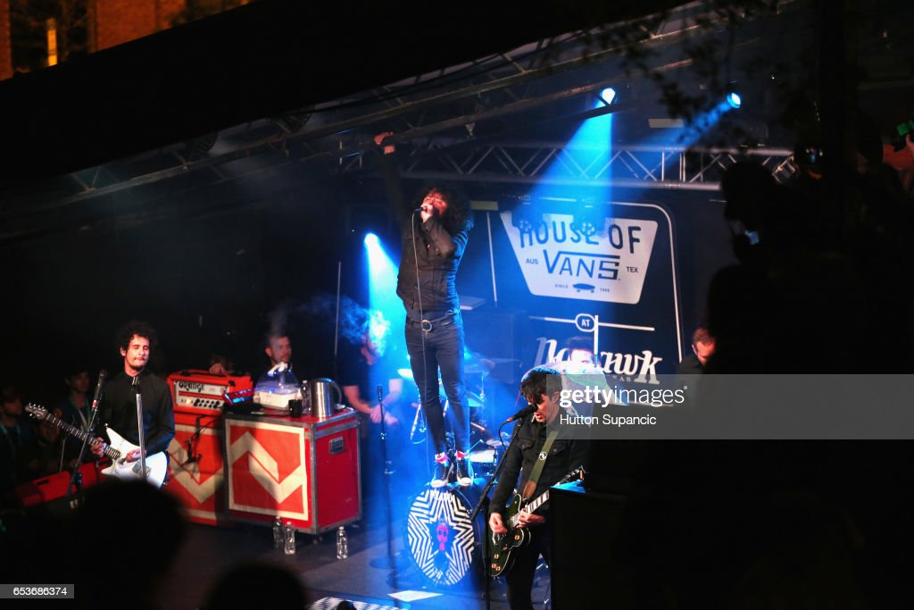 Musician Cedric Bixler-Zavala of At The Drive-In performs onstage at House of Vans during 2017 SXSW Conference and Festivals at Mohawk Indoor on March 15, 2017 in Austin, Texas.