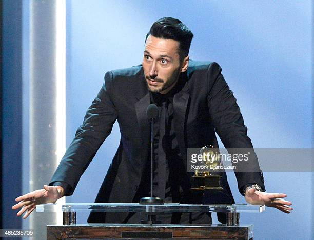 Musician Cedric Gervais accepts the Best Remixed Recording NonClassical Award for Summertime Sadness onstage during the 56th GRAMMY Awards...
