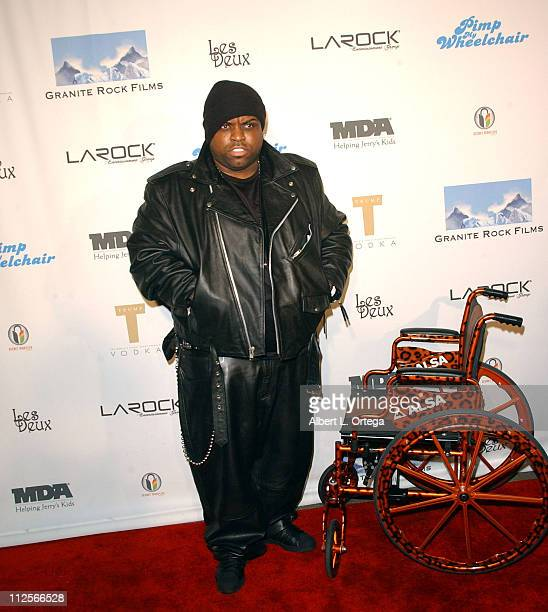 Musician CeeLo arrives for Dave Pearce's Birthday Party in conjunction with the Launch of Pimp My Wheelchair on February 16 2008 at Les Deux...