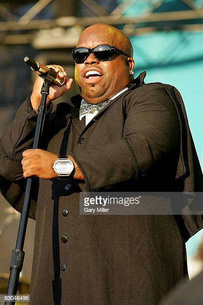 Musician CeeLo Green of Gnarls Barkley performs in Zilker Park on the closing day of the Austin City Limits Music Festival on September 28 2008 in...