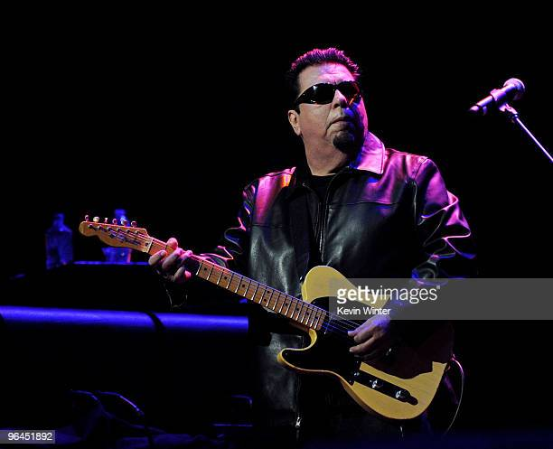 Musician Cesar Rosas performs onstage at Help Haiti with George Lopez Friends at LA Live's Nokia Theater on February 4 2010 in Los Angeles California