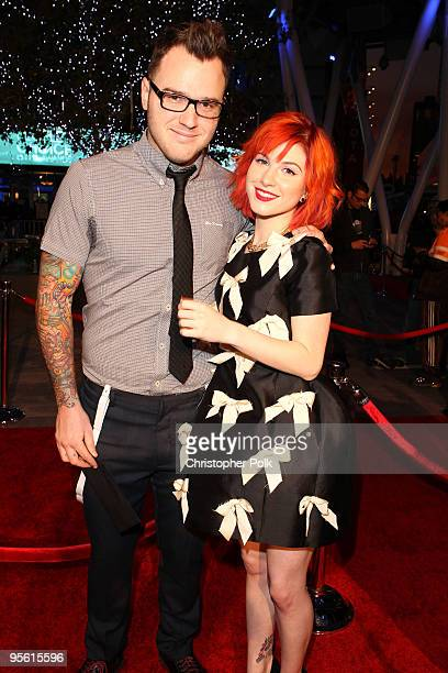 Musician Chad Gilbert of New Found Glory and singer Hayley Williams of Paramore arrive at the People's Choice Awards 2010 held at Nokia Theatre LA...