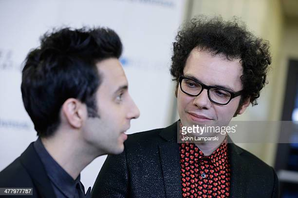 Musician Chad Vaccarinoand Ian Axel of the egroup Great Big World attend the Pinoy Relief Benefit concert at Madison Square Garden on March 11, 2014...