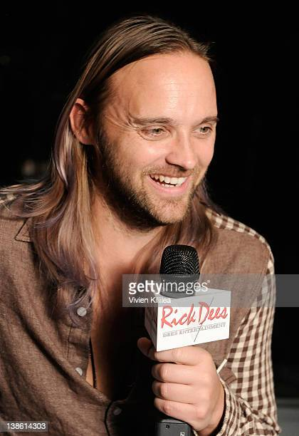 Musician Chad Wolf interviews backstage at the GRAMMYs Dial Global Radio Remotes during The 54th Annual GRAMMY Awards at Staples Center on February 9...