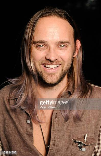 Musician Chad Wolf poses backstage at the GRAMMYs Dial Global Radio Remotes during The 54th Annual GRAMMY Awards at Staples Center on February 9 2012...