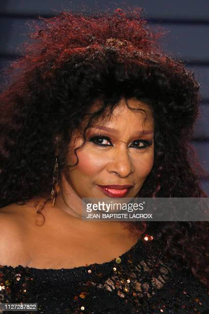 US musician Chaka Khan attends the 2019 Vanity Fair Oscar Party following the 91st Academy Awards at The Wallis Annenberg Center for the Performing...