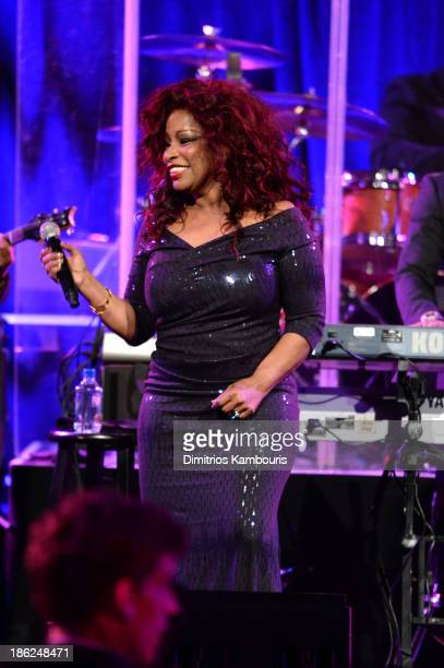 Musician Chaka Khan performs onstage during Gabrielle's Angel Foundation Hosts Angel Ball 2013 at Cipriani Wall Street on October 29 2013 in New York...