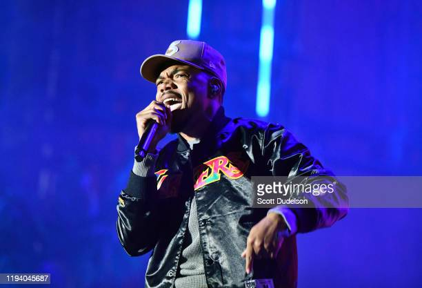Musician Chance the Rapper performs onstage during day 1 of the Rolling Loud Festival at Banc of California Stadium on December 14, 2019 in Los...