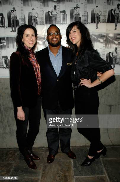 Musician Chandra Watson Erin Davis and Leigh Watson attend The Genius of Miles Davis exhibition opening reception at Zune LA on February 4 2009 in...