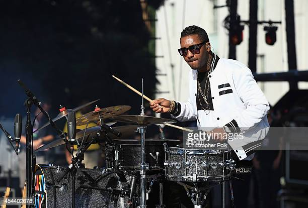 Musician Channing Cook Holmes of Capital Cities performs on the Marilyn Stage during day 1 of the 2014 Budweiser Made in America Festival at Los...