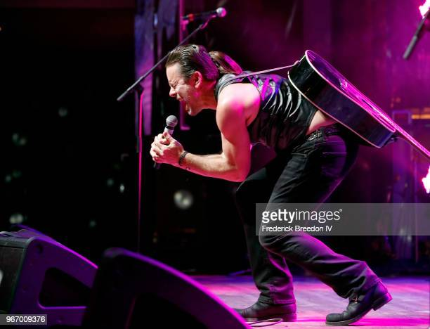 Musician Charles Esten performs onstage during Nashville '80s Dance Party benefiting The Alzheimer's Association at Wildhorse Saloon on June 3 2018...