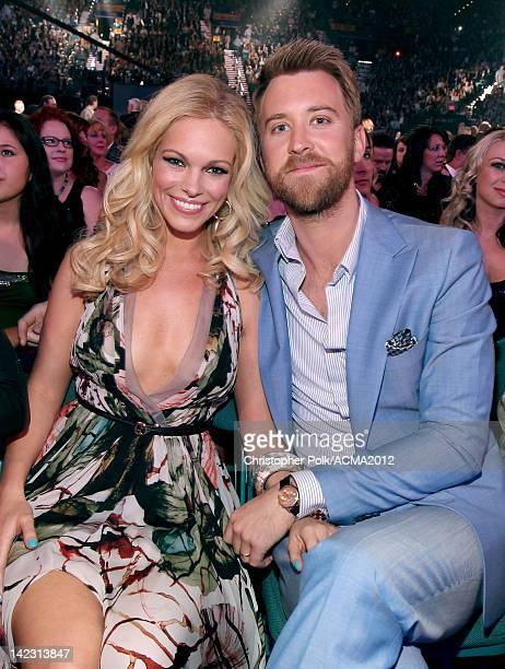 Musician Charles Kelley of Lady Antebellum and wife Cassie McConnell attend the 47th Annual Academy Of Country Music Awards held at the MGM Grand...