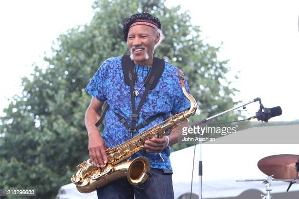 "Musician Charles Neville is shown performing on stage during a ""live"" concert appearance on July 8, 2016."