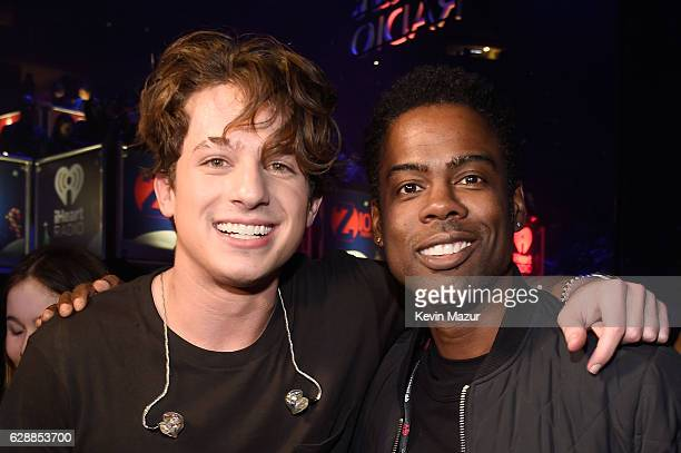 Musician Charlie Pluth and comedian Chris Rock attend Z100's Jingle Ball 2016 at Madison Square Garden on December 9 2016 in New York City