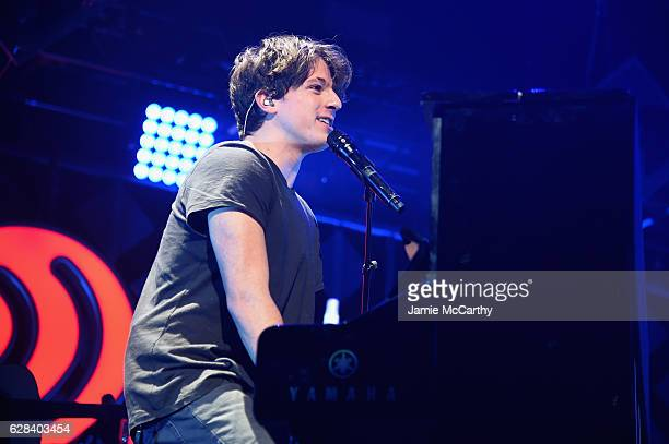 Musician Charlie Puth performs on stage during Q102's Jingle Ball 2016 on December 7 2016 in Philadelphia Pennsylvania