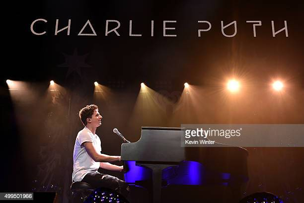 Musician Charlie Puth performs onstage during 1061 KISS FM's Jingle Ball 2015 presented by Capital One at American Airlines Center on December 1 2015...