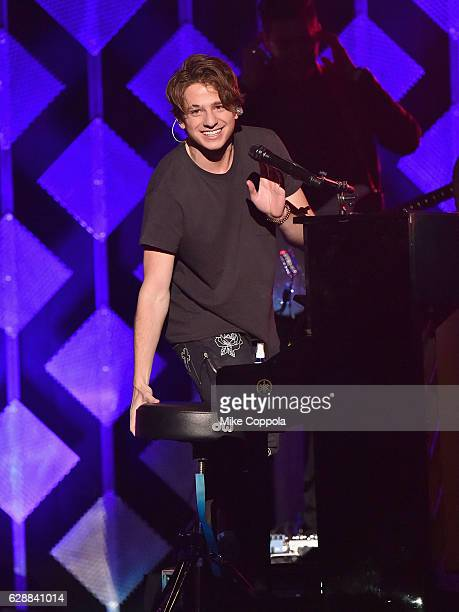 Musician Charlie Puth performs onstage during Z100's Jingle Ball 2016 at Madison Square Garden on December 9 2016 in New York New York