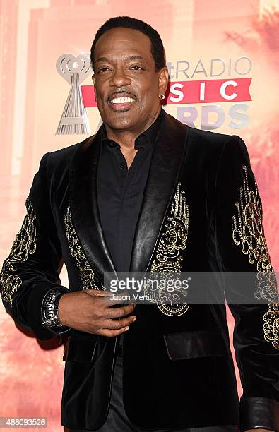 Musician Charlie Wilson poses in the press room during the 2015 iHeartRadio Music Awards which broadcasted live on NBC from The Shrine Auditorium on...