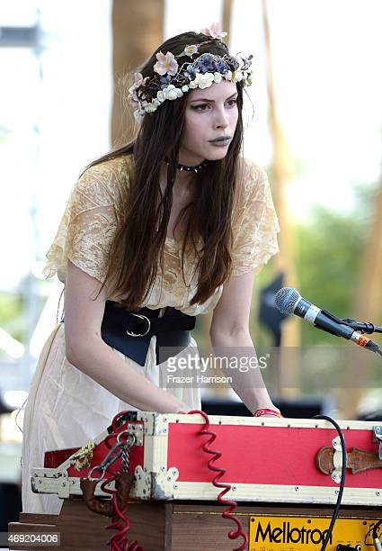 Musician Charlotte Kemp Muhl of The Ghost of a Saber Tooth Tiger performs onstage during day 1 of the 2015 Coachella Valley Music Arts Festival at...