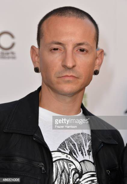 Musician Chester Bennington attends the 6th Annual Revolver Golden Gods Award Show at Club Nokia on April 23 2014 in Los Angeles California