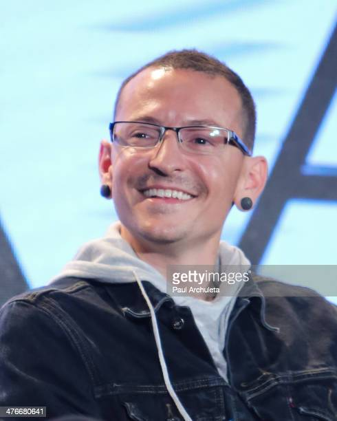 Musician Chester Bennington attends the press conference to announce the tour of Linkin Park Thirty Seconds To Mars and AFI at Milk Studios on March...