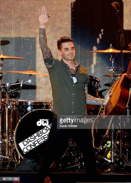 Musician Chris Carrabba of Dashboard Confessional perform onstage during iHeartRadio ALTer Ego 2018 at The Forum on January 19 2018 in Inglewood...
