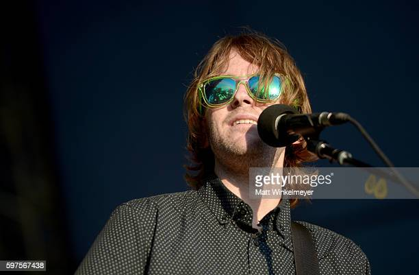 Musician Chris Conley of Saves the Day performs onstage during FYF Fest 2016 at Los Angeles Sports Arena on August 28 2016 in Los Angeles California