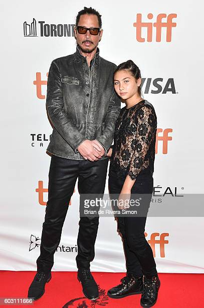 Musician Chris Cornell and daughter Toni attend 'The Promise' premiere during 2016 Toronto International Film Festival at Roy Thomson Hall on...