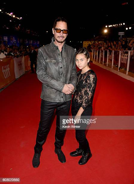 Musician Chris Cornell and Toni Cornell attend the 'The Promise' premiere during the 2016 Toronto International Film Festival at Roy Thomson Hall on...