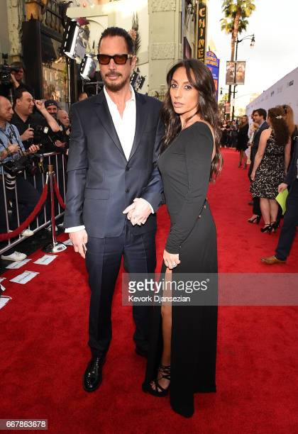 Musician Chris Cornell and Vicky Karayiannis attend the premiere of Open Road Films' 'The Promise' at TCL Chinese Theatre on April 12 2017 in...