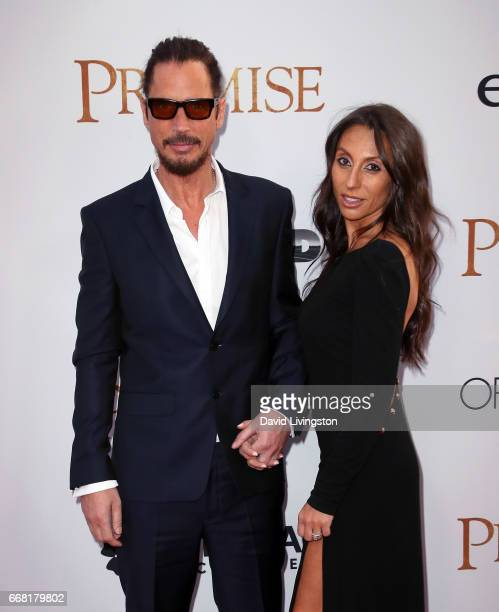 Musician Chris Cornell and wife Vicky Karayiannis attend the premiere of Open Road Films' The Promise at TCL Chinese Theatre on April 12 2017 in...