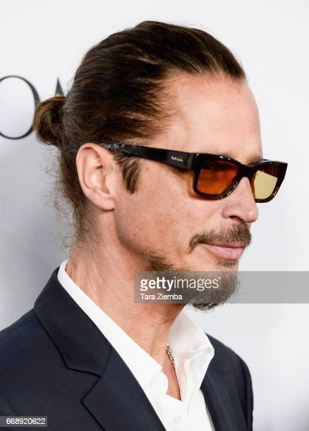5a4b19d5e20 Musician Chris Cornell arrives to the Los Angeles premiere of  The Promise   at TCL
