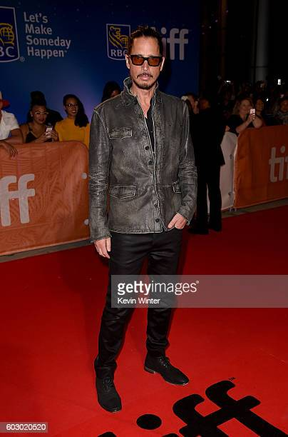 Musician Chris Cornell attends the 'The Promise' premiere during the 2016 Toronto International Film Festival at Roy Thomson Hall on September 11...