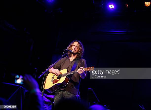Musician Chris Cornell performs at Bowery Ballroom on November 12 2012 in New York City