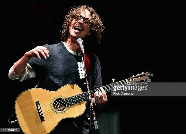 Musician Chris Cornell performs at The Ryman Auditorium on October 27 2015 in Nashville Tennessee