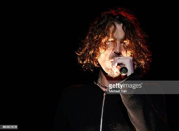 Musician Chris Cornell performs onstage at The Wiltern on May 3 2009 in Los Angeles California