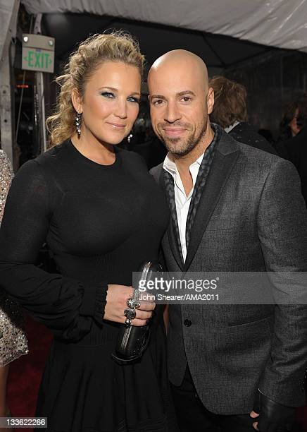 Musician Chris Daughtry and Deanna Daughtry arrive at the 2011 American Music Awards held at Nokia Theatre LA LIVE on November 20 2011 in Los Angeles...