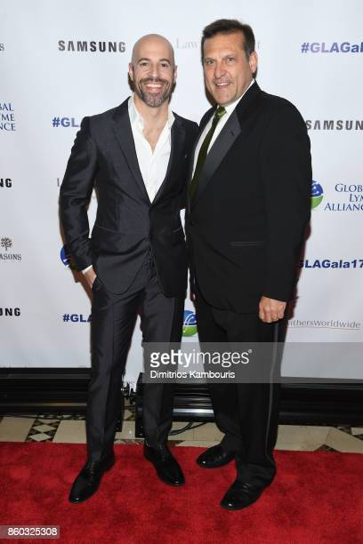 Musician Chris Daughtry and GLA CEO Scott Santarella attend the Global Lyme Alliance third annual New York City Gala on October 11 2017 in New York...