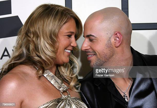Musician Chris Daughtry and wife Deanna Daughtry arrive at the 50th annual Grammy awards held at the Staples Center on February 10 2008 in Los...