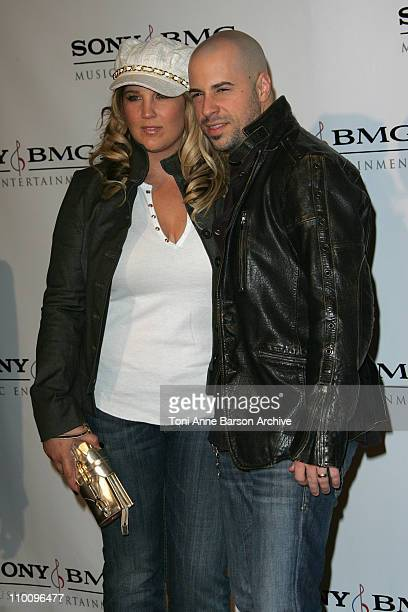 Musician Chris Daughtry and wife Deanna Daughtry arrive at the Sony/BMG Grammy After Party held on February 10 2008 at the Beverly Hills Hotel in...