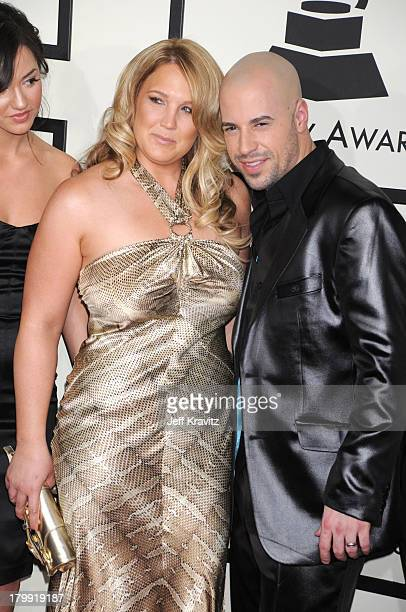 Musician Chris Daughtry and wife Deanna Daughtry arrive to the 50th Annual GRAMMY Awards at the Staples Center on February 10 2008 in Los Angeles...