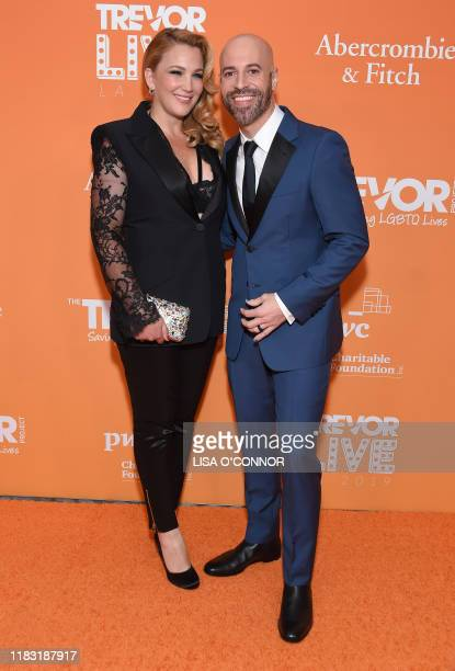 US musician Chris Daughtry and wife Deanna Daughtry attend the TrevorLIVE Los Angeles gala at the Beverly Hilton Hotel in Beverly Hills California on...