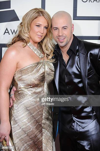 Musician Chris Daughtry and wife Deanna Robertson arrive to the 50th Annual GRAMMY Awards at the Staples Center on February 10 2008 in Los Angeles...