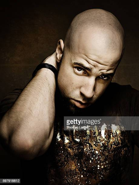 Musician Chris Daughtry is photographed for Self Assignment on October 2 2007 in Paris France
